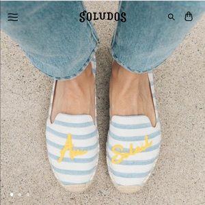Soludos sun ☀️ striped Au Soliel Espadrilles ~ NEW